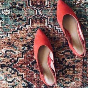 Madewell Ava Suede Slingback Shoe NWOT